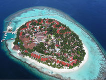 lotnicza wyspa Maldives Obrazy Stock