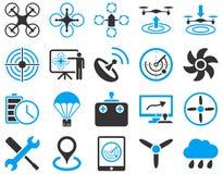 Lotnicze trutnia i quadcopter narzędziowe ikony Obraz Royalty Free