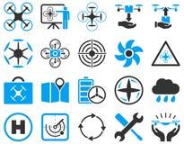 Lotnicze trutnia i quadcopter narzędziowe ikony Zdjęcie Royalty Free