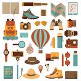 Lotniczego balonu podróży przygody ikony Obraz Stock
