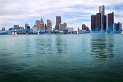lotniczego byka Detroit biegowa czerwona linia horyzontu Zdjęcie Stock