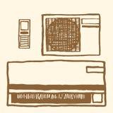 lotniczego conditioner ilustracyjny rozszczepiony system ilustracyjny lelui czerwieni stylu rocznik Obraz Stock