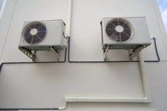 Lotniczego conditioner plenerowa jednostka, upał pompy kompresor lub Kondensatorowy fan dla poparcia powietrza Conditioner Fotografia Stock