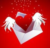 lotniczego dzień kopertowy serca s valentine Zdjęcie Stock