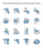 Lotniczego kompresoru ikona ilustracja wektor