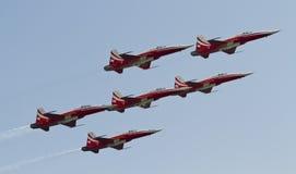 lotniczego patrolu szwajcar Zdjęcia Stock