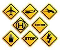 lotniczego portu znak Zdjęcia Royalty Free
