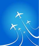 Lotniczego samolotu latanie Zdjęcia Royalty Free
