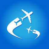 Lotniczego samolotu latanie Zdjęcie Royalty Free