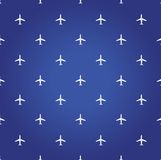 lotniczego samolotu podróży błękita tło Zdjęcie Royalty Free