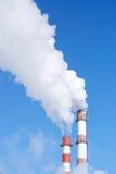 lotniczego tła błękitny fabryczny zanieczyszczenie Zdjęcie Stock