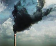 lotniczego tła błękitny fabryczny zanieczyszczenie Zdjęcia Stock
