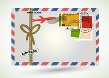 Lotniczej poczta koperty copyspace Obraz Stock