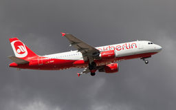 a320 lotniczy Airbus Berlin Zdjęcie Stock
