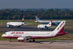 a320 lotniczy Airbus Berlin Zdjęcia Stock