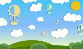 Lotniczy ballons w niebie Fotografia Royalty Free