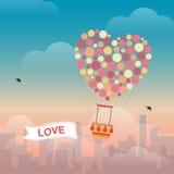 lotniczy balon chmurnieje gorącego Fotografia Royalty Free