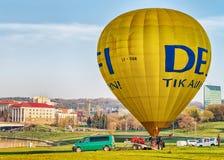 Lotniczy balon ono dmucha - up Obraz Stock