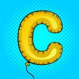 Lotniczy balon w kształcie listowy C wystrzału sztuki wektor Fotografia Royalty Free