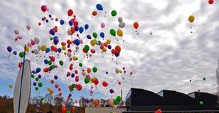 Lotniczy balon w niebie Zdjęcia Royalty Free