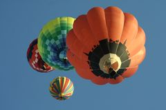 lotniczy balony grupują gorącego Obrazy Royalty Free