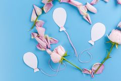 lotniczy balony i kwiaty zdjęcia stock