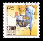 Lotniczy balony na znaczkach pocztowych zdjęcie stock