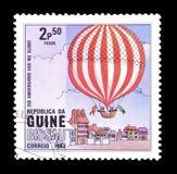 Lotniczy balony na znaczkach pocztowych fotografia royalty free