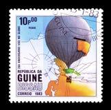 Lotniczy balony na znaczkach pocztowych obraz royalty free