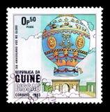 Lotniczy balony na znaczkach pocztowych obrazy stock