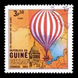 Lotniczy balony na znaczkach pocztowych fotografia stock