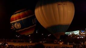 Lotniczy balony w nocy zbiory
