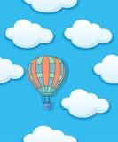 Lotniczy baloon i chmury bezszwowi Obrazy Royalty Free