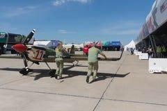 Lotniczy Biegowy hangar Zdjęcia Royalty Free
