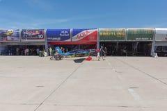 Lotniczy Biegowy hangar na pokazie Zdjęcia Royalty Free