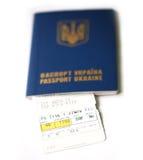 Lotniczy bilet Obrazy Stock