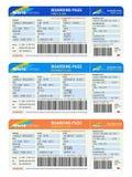 Lotniczy bilety Obrazy Royalty Free