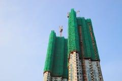 lotniczy budynków budowy żurawia otwarty miejsce niedokończony Tsuen Blady Obraz Stock