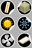 lotniczy conditioner ikon majchery ilustracji