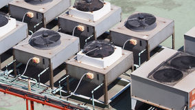 Lotniczy conditioner kompresor Fotografia Royalty Free