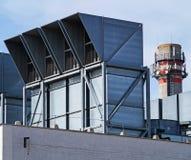 Lotniczy filtry elektrownia zdjęcia stock