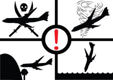 Lotniczy katastrofa samolotu wskaźnik Fotografia Stock