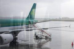 Lotniczy lingus samolot zdjęcie stock