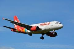 Lotniczy Malta, Aerobus/A319-112, 9H-AEG/ Zdjęcia Stock