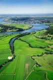 lotniczy pól uprawnych krajobrazu Obraz Royalty Free