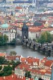 lotniczy Prague widok Obrazy Royalty Free