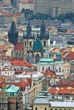 lotniczy Prague widok Zdjęcie Royalty Free