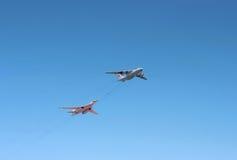 Lotniczy refueling Obraz Royalty Free
