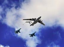 Lotniczy refueling Obrazy Royalty Free