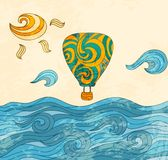 Lotniczy rocznika balon Obraz Stock